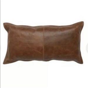 """Kosas Home Cheyenne Leather 14"""" x 26"""" Throw Pillow"""